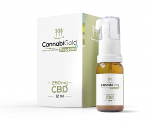CannabiGold Terpenes+ 250 mg olej CBD z terpenami 12 ml