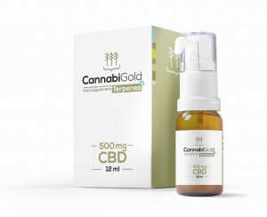 CannabiGold Terpenes+ 500 mg olej CBD  z terpenami 12 ml