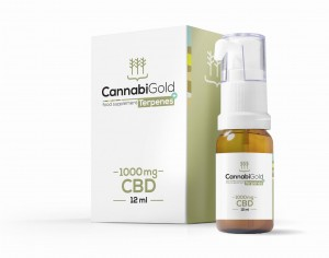 CannabiGold Terpenes+ 1000 mg olej CBD terpeny12 ml
