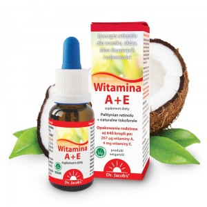Witamina A+E 20 ml krople Dr.Jacobs